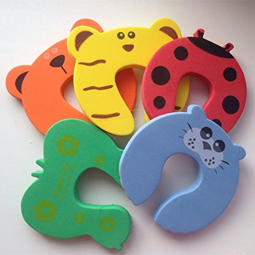10pcs/lot Kids Baby Cartoon Animal Jammers Stop Edge Corner Guards Door Stopper Holder Lock Baby Safety Finger Protector by Samy Best (Image #2)