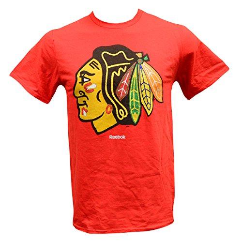 (Reebok Men's T-shirt Nhl Chicago Blackhawks Short Sleeve Red Shirt (Large))