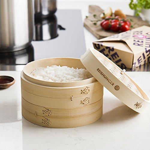 Amazon De Reishunger Bambusdampfer O 20 Cm 2 Etagen Fur Reis