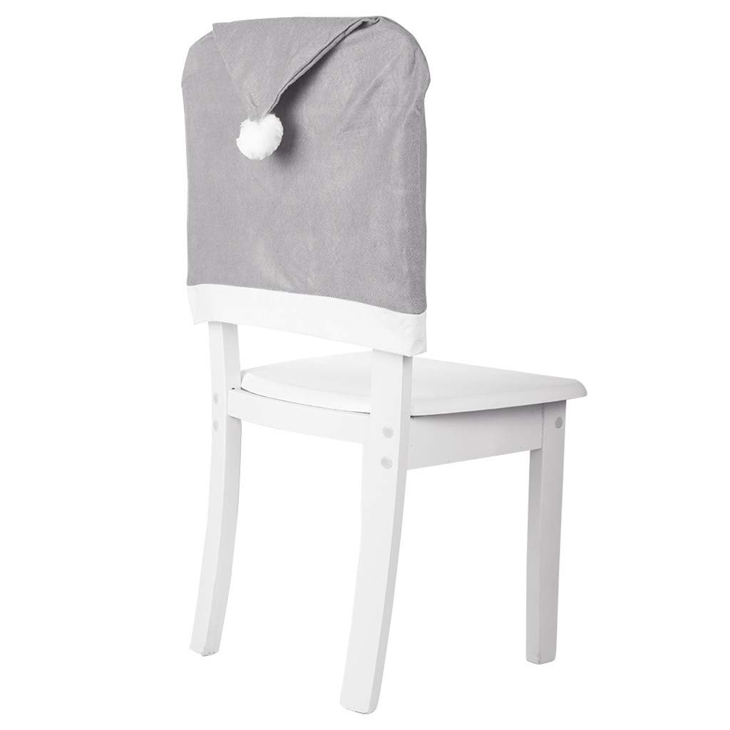 AMhomely Christmas Decorations Sale Gray Non-woven Big Hat Chair Cover Stool Set Xmas Hanging Ornaments For Women,Girls, Him,Mum, Dad And Boys
