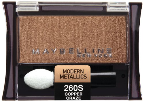 Maybelline New York Expert Wear Eyeshadow Singles, Copper Craze 260s, 0.09 Ounce