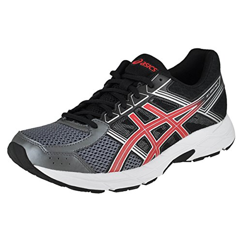 Stability Running Shoes (ASICS Men's Gel-Contend 4 Running-Shoes, Carbon/Classic Red/Black, 10.5 Medium US)