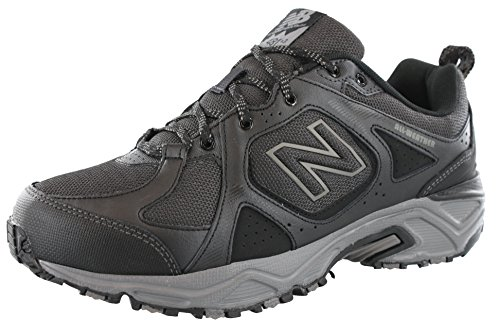 - New Balance Men's 481V3 Water Resistant Cushioning Trail Running Shoe, Black/Grey, 8 4E US