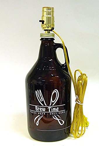 Growler Bottle Lamp Kit Is Pre-wired And Ready To Attach To Your Standard Beer Growler Jug
