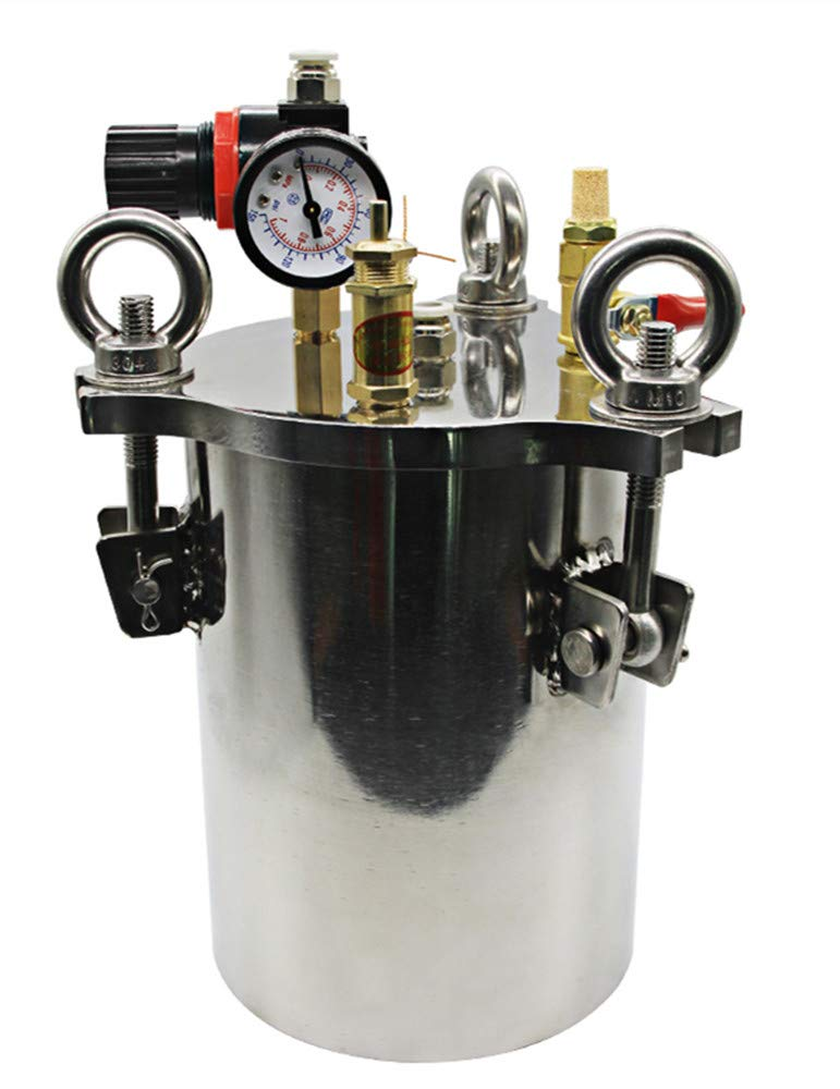Newtry - Cubo dispensador de líquido de acero inoxidable con ...