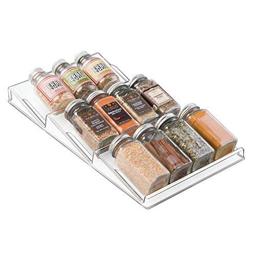 InterDesign Linus 3-Tiered Drawer Spice Rack - Kitchen Storage Organizer, Clear