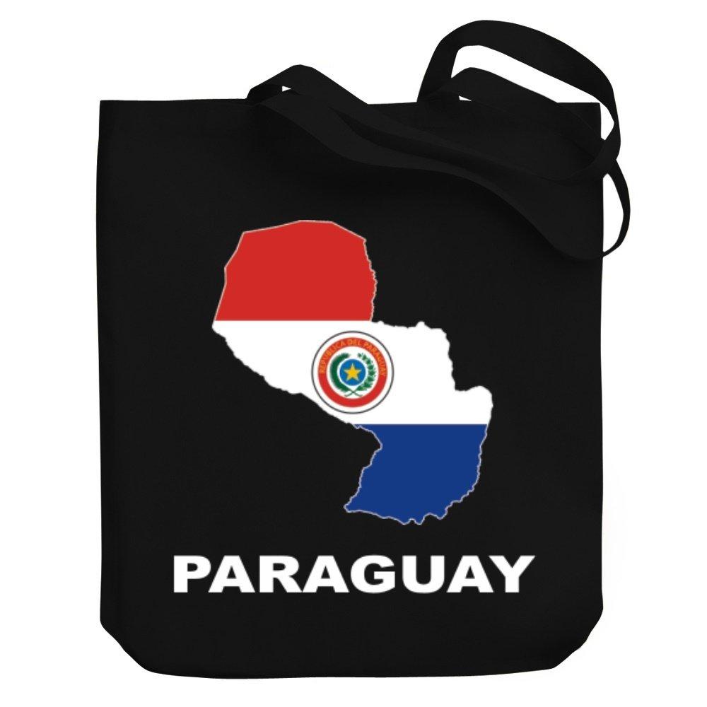 Teeburon Paraguay Country Map Color Bolsa de Lona: Amazon.es ...