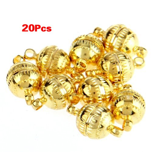 TOOGOO(R) 20pcs Necklace Bracelet Gold tone Clasp Magnetic Buckle HOT