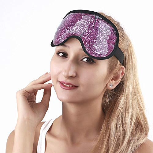 Gel Eye Mask Eye Cooling Mask for Puffy Eyes, Soft Eye Ice Pack Reusable Cold Mask Eye Compress with Plush for ()