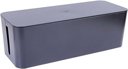 Caja de gestión de cables cable organizador cable de transmisión Caja ocultar todos los cables eléctricos y tiras de energía grande almacenamiento Holder, color negro: Amazon.es: Oficina y papelería