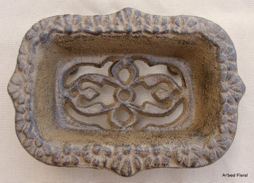 Cast Iron Victorian Soap Dish ~ Rustic Brown - Iron Soap Dish