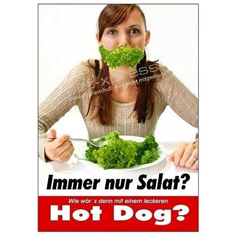 Net-Xpress® Alegre Hot Dog Cartel de Publicidad Din A1 ...