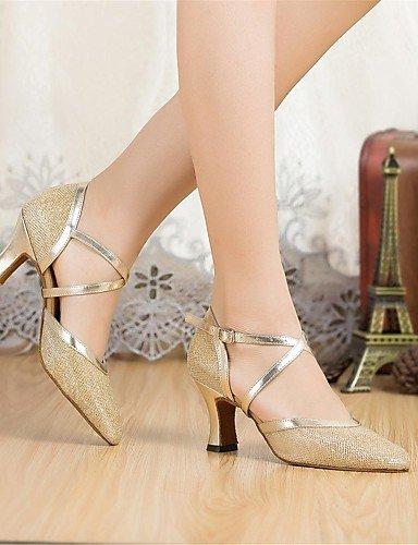 ShangYi Standard-Schuhe Frauen High Heels funkelnden Glitter Schnalle Tanzschuhe (mehr Farben) , black-us3.5 / eu33 / uk1.5 / cn32 , black-us3.5 / eu33 / uk1.5 / cn32