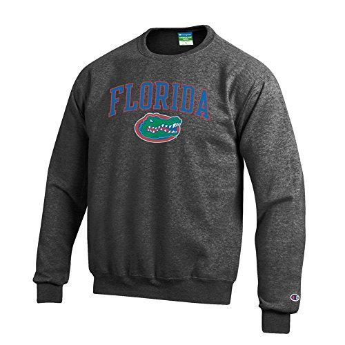 - Elite Fan Shop NCAA Florida Gators Men's Crewneck Charcoal Gray Sweatshirt, Dark Heather, Large