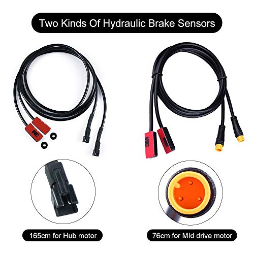 Hydraulic Motor Brake - BAFANG Electric Bike Brake Sensor Cable Motor Brake Sensor Cable Compatible with Hydraulic and Mechanical Brake Electric Bicycle Accessary (for Mid Motor)