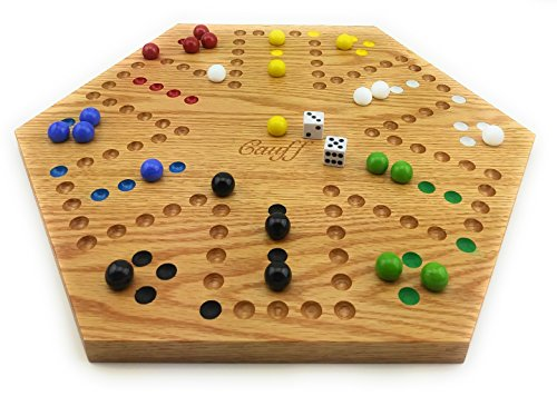 (Solid Oak Double Sided Aggravation Marble Board Game Hand Painted 20 inch)