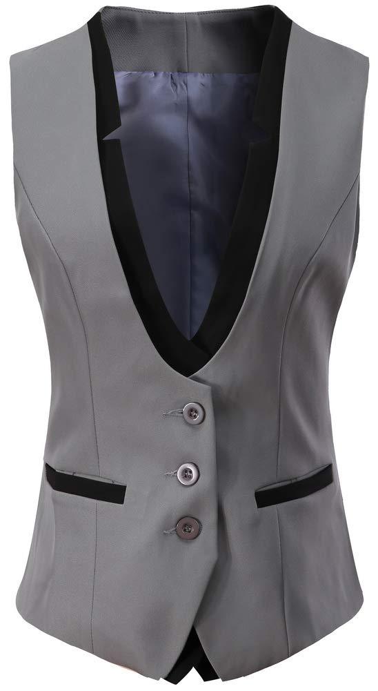 Mujer Chalecos Sin Mangas Del Trajes Y Blazers Chaqueta Outwear ... 01eff25c6fb0