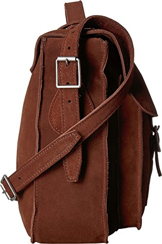 Dr Suede Martens 15'' Leather Unisex Brown Satchel 6q6Bxrt