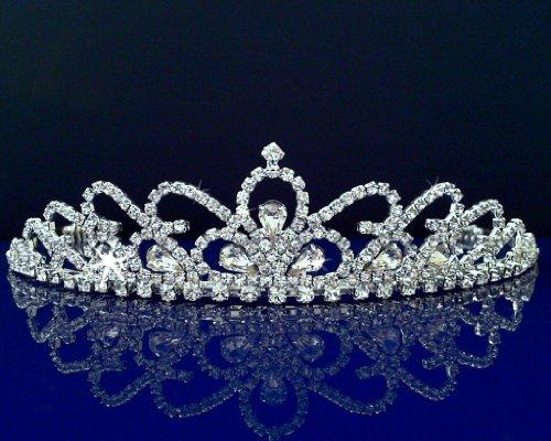 [SC Bridal Wedding Tiara Crown With Crystal Arches 30598] (Girls Jade Princess Costumes)