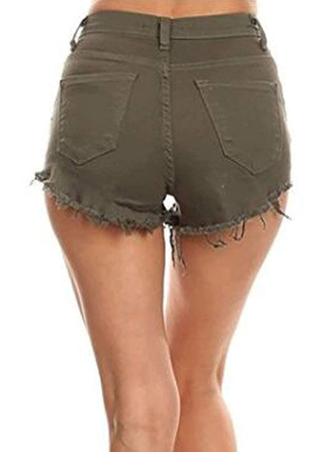 Itemnew Womens Fashion Ripped High Waist Fringe Mini Shorts Jeans