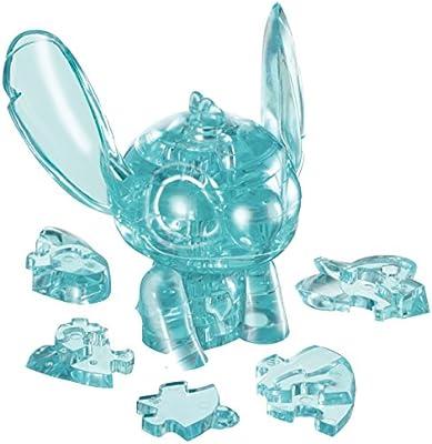 43 Piece Hanayama Disney Crystal Gallery Hawaiian Blue Stitch 3D Puzzle