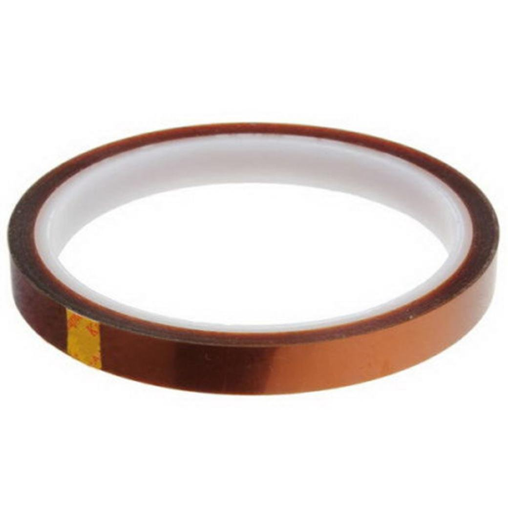 LiPing 33M(118in) High/Low-Temp Kapton Tape Polyimide Film Tape for 3D Printing, Soldering, Insulating Circuit Boards & More (High-Temp, 10mm(0.4IN))