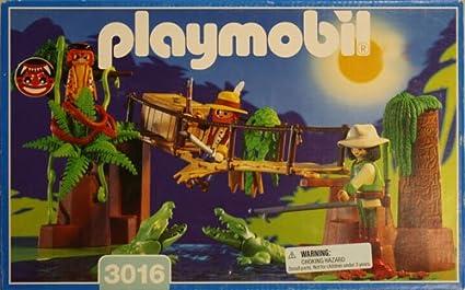 Amazon.com: Playmobil 3016 Selva Pantano de cocodrilo: Toys ...