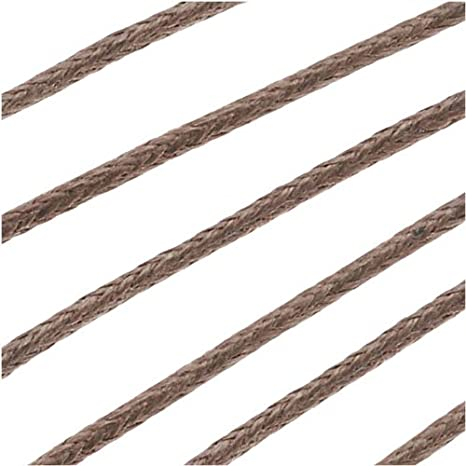 5 M of Brown waxed cotton cord 1 mm