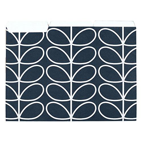 Orla Kiely A4 Card File Folders - Flowers (Pack of 6) - Orla Kiely Stationery
