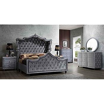 hudson canopy bedroom set 6 pc king size bed 2 night stands dresser