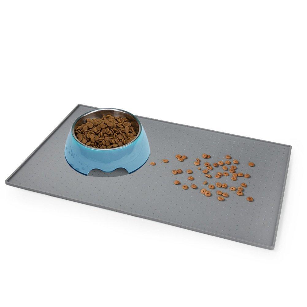 Petacc Dog Feeding Mat FDA Grade Silicone Waterproof Pet Food Mat Non Slip Do...