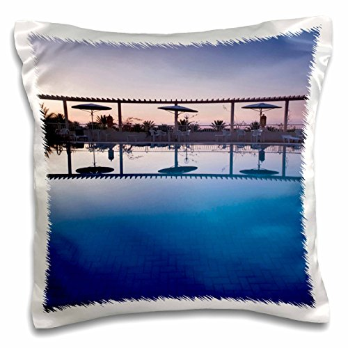 Hotel El Mouradi Pool (Danita Delimont - Hotels - Tunisia, Jerid Area, Tozeur, Hotel El Mouradi Pool-AF47 WBI0654 - Walter Bibikow - 16x16 inch Pillow Case (pc_72659_1))