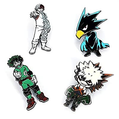 Nuofeng - My Hero Academia Animation Cosplay Cartoon Badge Collection Badge Brooch Pins Bag Novel Anime Alloy Accessories Bags Cloth Decoration(H07) : Office Products