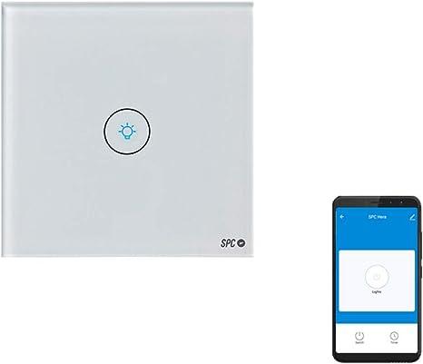 SPC Hera – Interruptor Inteligente Wi-Fi de Pared 1 Gang Compatible con Amazon Alexa, Google Home, Blanco: Spc-Internet: Amazon.es: Electrónica
