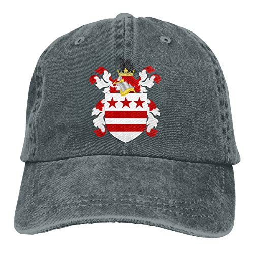 (2 Pack Coat of Arms of The Washington Adjustable Baseball Caps Denim Hat Trucker Cap for Women and Men )