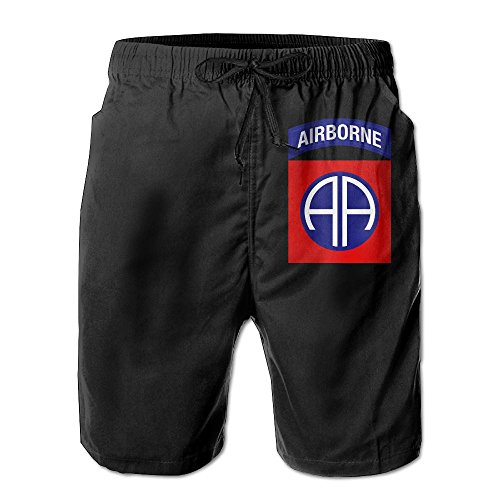 Inlenged 82nd Airborne Division Military Logo Men's Casual Shorts Swim Trunks Fit Performance Quick Dry ()