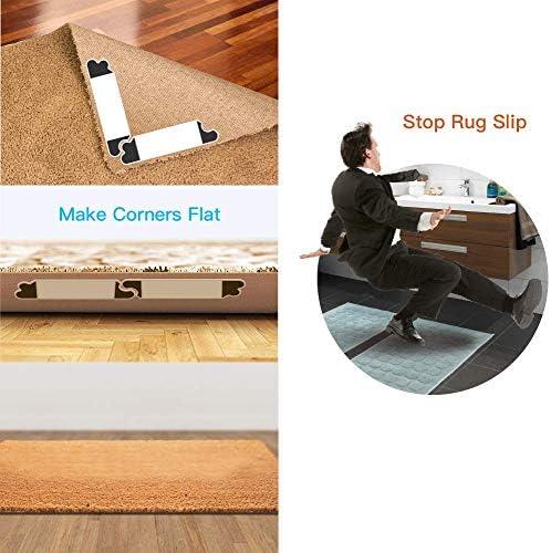 5PC Rug Mat Carpet Gripper Non Skid Anti Slip Washable Reusable Strong Adhesive