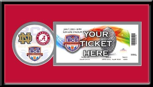 (NCAA Alabama Crimson Tide 2013 BCS Championship Single Ticket Frame)