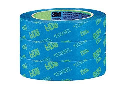 ScotchBlue 2093EL-24CVP Trim + BASEBOARDS Painters Tape.94 in x 60 yd, 3 Rolls, Blue by ScotchBlue (Image #1)