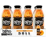 NEW! BiPro Protein Water +Caffeine, Orange, 16.9 Ounce (Pack of 12) For Sale