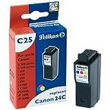 Pelikan C25  Cartouche compatible pour Canon BCI24C 3x6ml Cyan Magenta Jaune