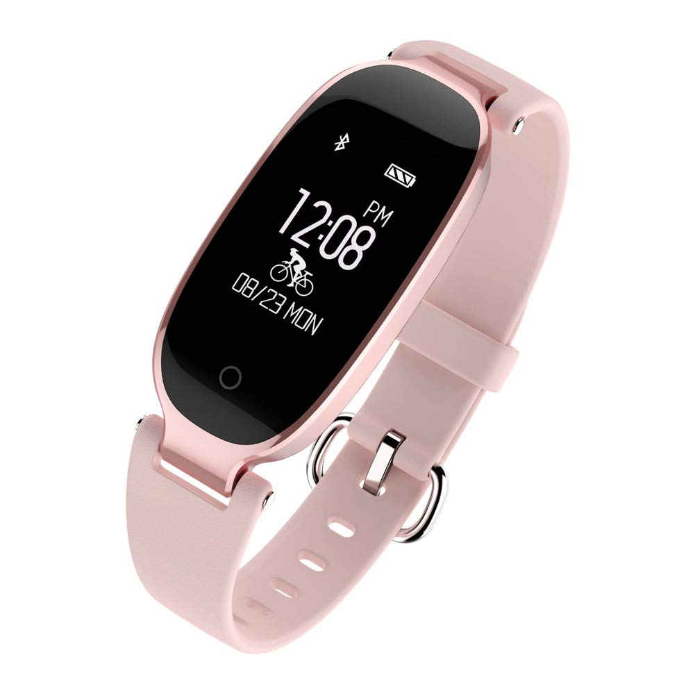 HHRONG Lady Smart Bracelet, Sleep Monitor Message Notification/Step Counter, Multi-Function Sports Student Watch-C by HHRONG