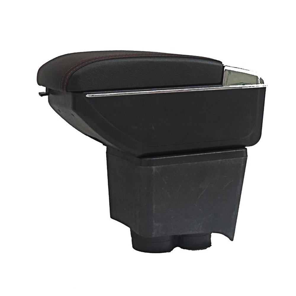 Leather Car Center Console Armrest Box AutoSunShine Armrests Storage Box Black