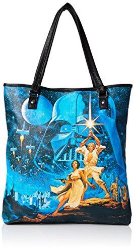 Loungefly Star Wars Tote Shoulder Bag, Multi, One Size (Darth Vader Purse)