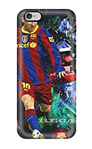 Fashion Tpu Case For Iphone 6 Plus- Lionel Messi Desktop Background Defender Case Cover(3D PC Soft Case)