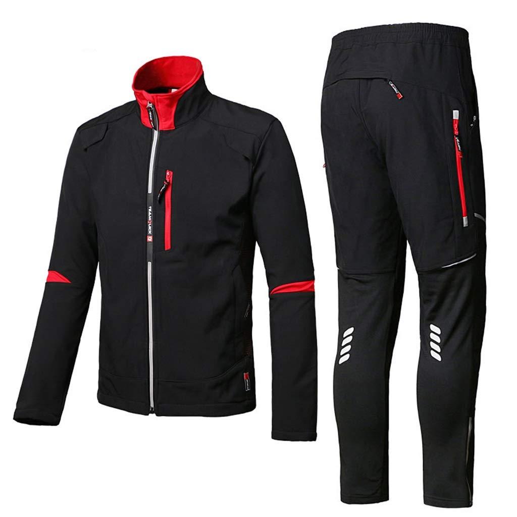 Rainwear 2 Piece Suit, Raincoat Rain Suits for Men Heavy Duty Waterproof with Hood Motorcycle Riding Golf Fishing Outdoor Work