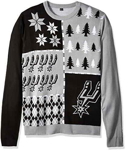 San Antonio Spurs Busy Block Ugly Sweater Large