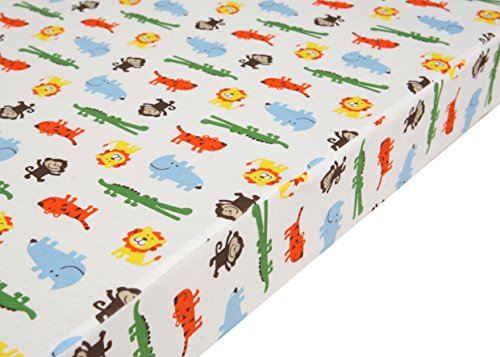 Cheap Premium Fitted Pack N Play Playard Sheet made with 100% ORGANIC Cotton, SAFARI