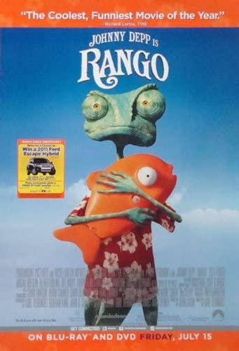 Amazon Com Rango 2011 Movie Poster 27 X 40 Approx Prints Posters Prints