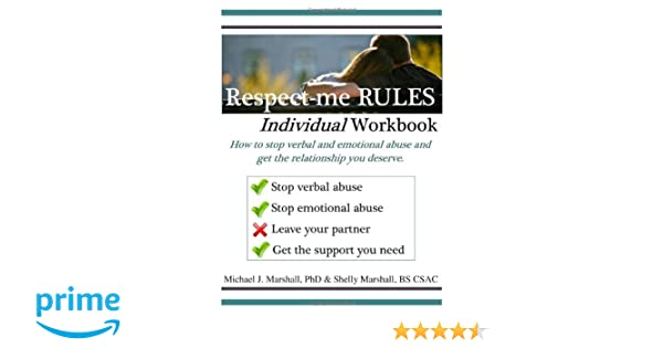 Amazon.com: Respect-Me Rules Individual & Group Workbook, Verbal ...